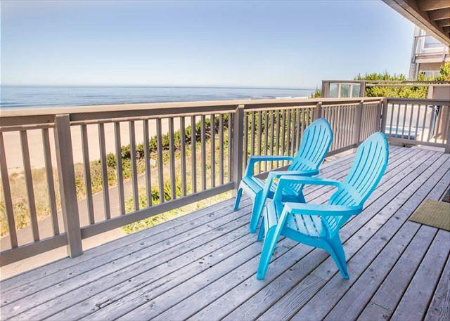 Oceanfront w/Private Beach Access and Hot Tub - Image 1 - Lincoln City - rentals