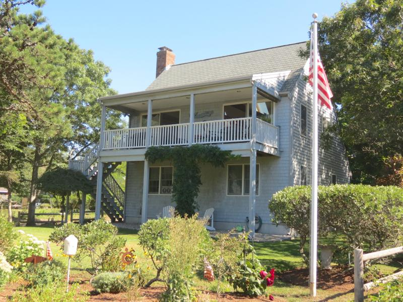Front of the house with a second floor deck - 1 Min. Walk to Private Beach, Cape Cod Bay--091-BA - Brewster - rentals
