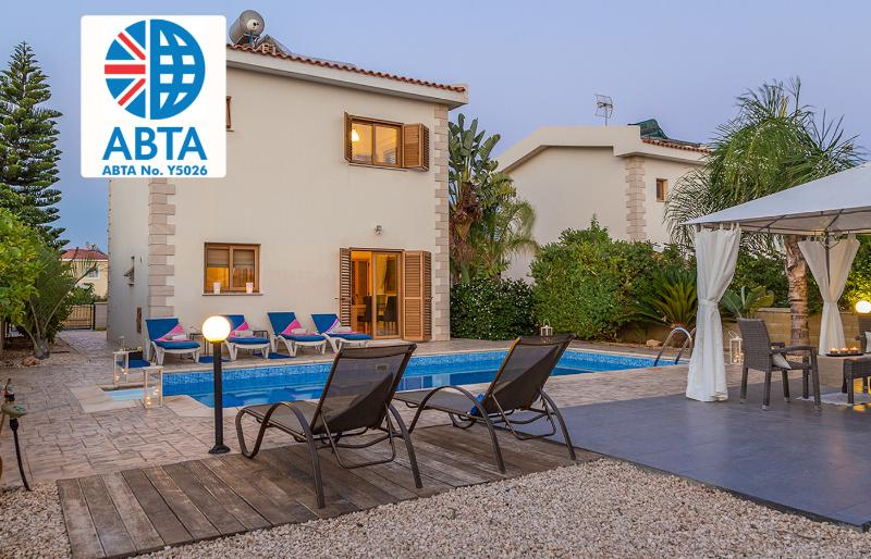 Oceanview Villa 120 - Stunning outside & pool area - Image 1 - Ayia Napa - rentals
