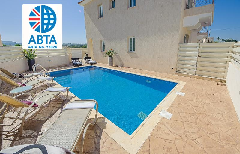 Oceanview Villa 012 - 3 bed with a Roof-Terrace - Image 1 - Protaras - rentals
