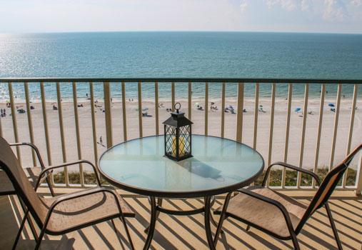 Balcony and View - Apollo 809 - Apollo Condominium - Marco Island - rentals