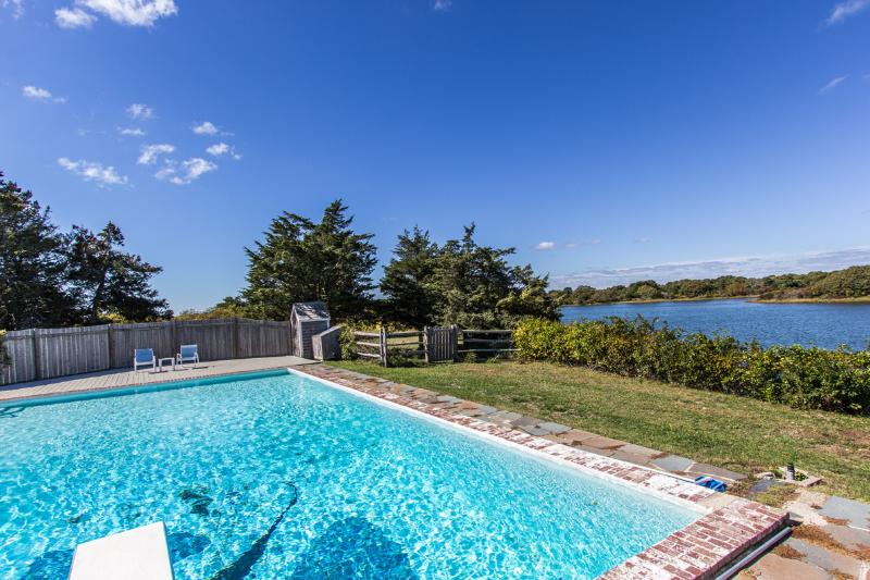 Large Pool Overlooks Great Pond - COHAH - Herring Creek Summer Retreat, Waterfront, Oversized Pool, Private - Edgartown - rentals