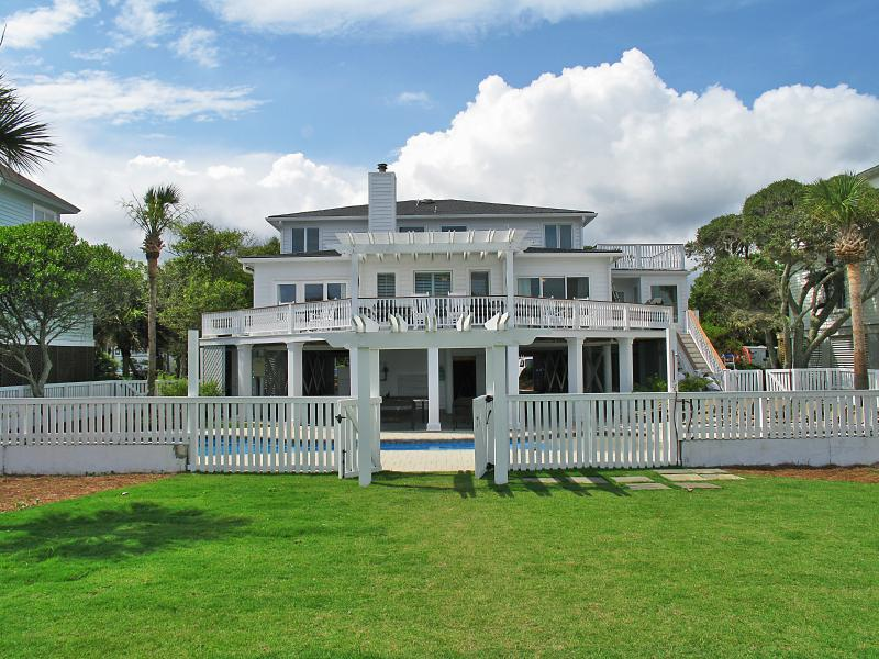 Back view of 3302 Barbados - Fall Discounts!! Oceanfront, Renovated, Pool - Isle of Palms - rentals