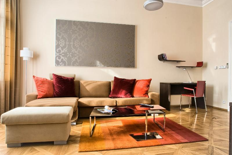 Bright living area with working desk - Old Town - Exclusive 1bedroom | Karolina Residence - Prague - rentals