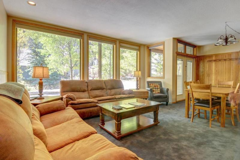 River front condo w/shared pool & hot tub near ski lifts - Image 1 - Telluride - rentals