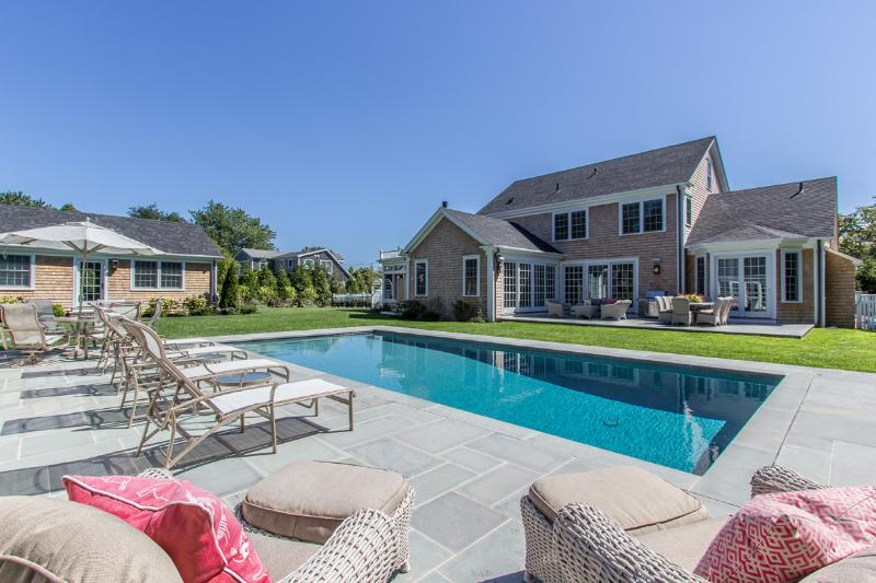 Main House, Guest House, Pool, Pool House  and Patio - SULLS - Exquisite, Chic,  Edgartown Village Compound, Heated Pebble Tec Pool - Edgartown - rentals