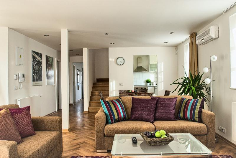 Modern, bright and unique duplex apartment - Heart of Prague - Huge Terraced 2bdr Karlova Apt. - Prague - rentals