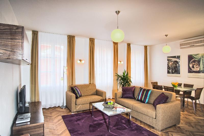Comfortable living area - Heart of Prague - Executive 2bdr Karlova Residence - Prague - rentals