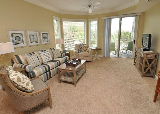 Living Area - 2205 SeaCrest-Steps to the Pool & Beach - Summer weeks available. - Hilton Head - rentals
