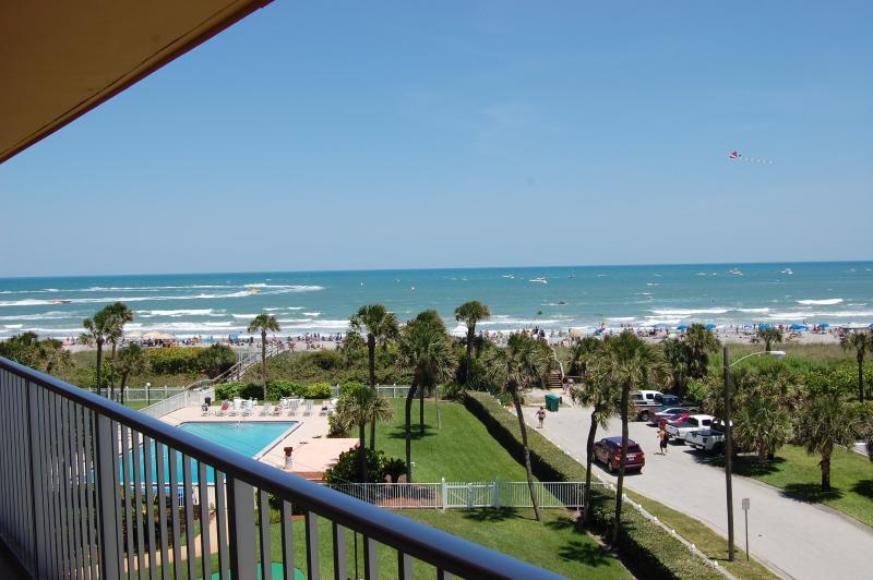 balcony - 5th floor oceanfront Condo - Cocoa Beach - rentals