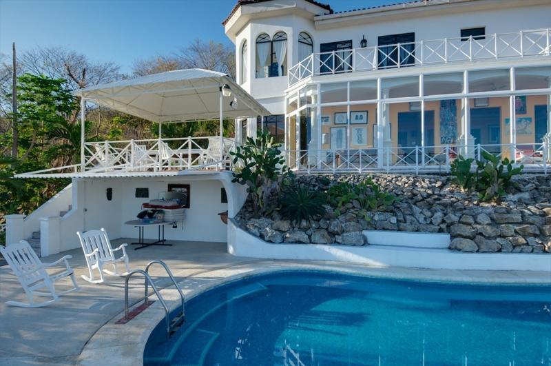 Casa Francis, as seen from the ocean - Eclectic Ocean View Mansion 4BR/4BA, Playa Ocotal - Playas del Coco - rentals