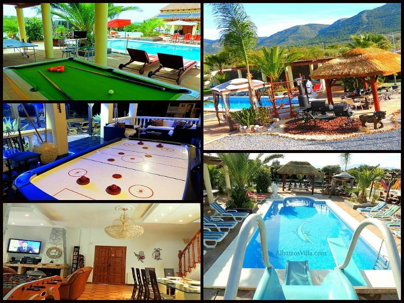 5 Star Villa, Pool Heating, 2 x Heated Jacuzzi's, Free WiFi, Pool Table, Air Hockey, Ping Pong - Villa & Glamping Rentals-Spain-Heated Pool-Wifi - Alhaurin de la Torre - rentals