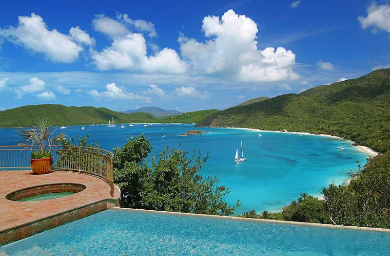 The Cinnamon Breeze infinity pool & spa setting is certainly one of the world's most beautiful. - Peter Bay-Cinnamon Breeze - Virgin Islands National Park - rentals