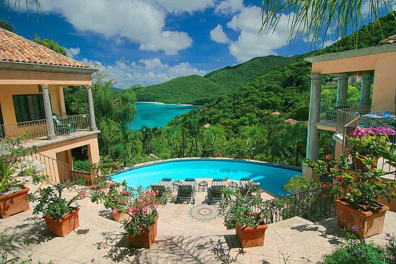 Coco de Mer overlooks one of the world's most beautiful & dramatic geographic wonders! - Villa Coco de Mer Peter Bay Majestic Beach Views - Virgin Islands National Park - rentals