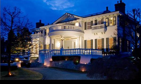 Front of house - early evening - Luxury Estate on a Private Lake - West Vancouver - rentals