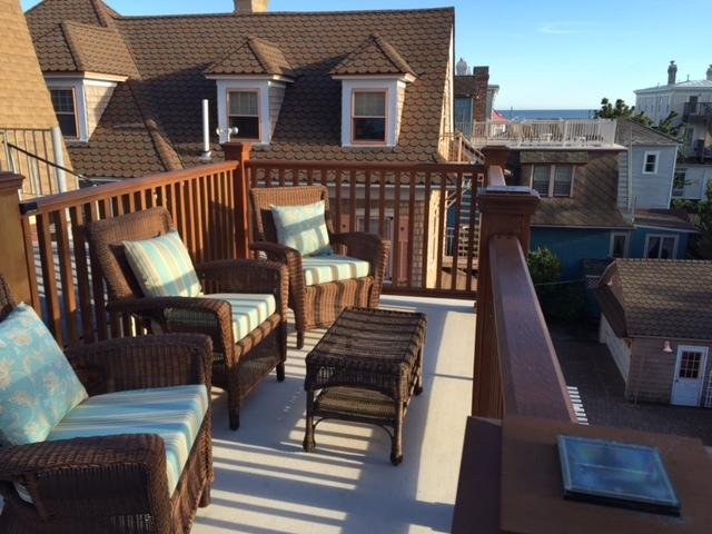 Relax on our private roof deck, enjoy a good book, coffee, wine and surf the internet. - Location! 1/2 Block Beach -Roof Deck w/Ocean Views - Cape May - rentals