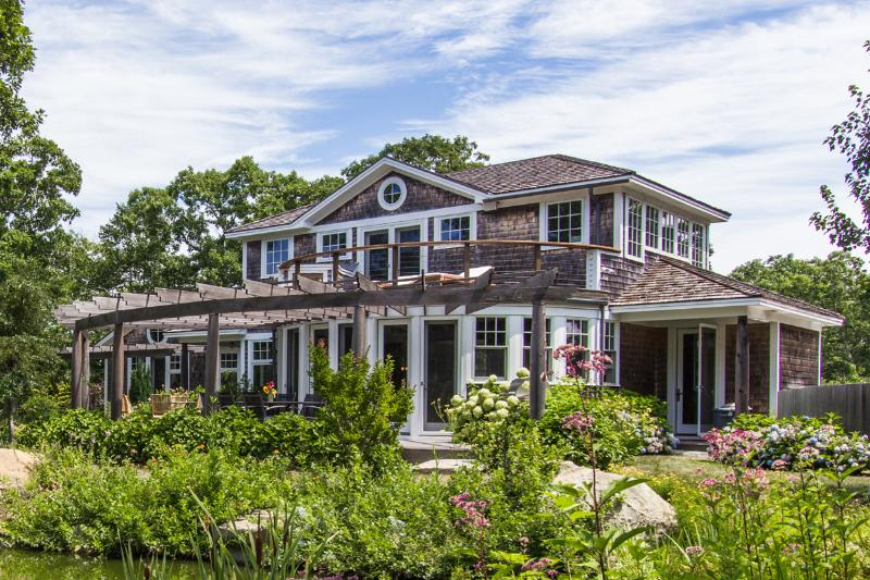 Front of House with Wrap Around Deck - MCAUM - Thoughtfull Architectual Design set Amidst an Estate Property, Bordered - West Tisbury - rentals