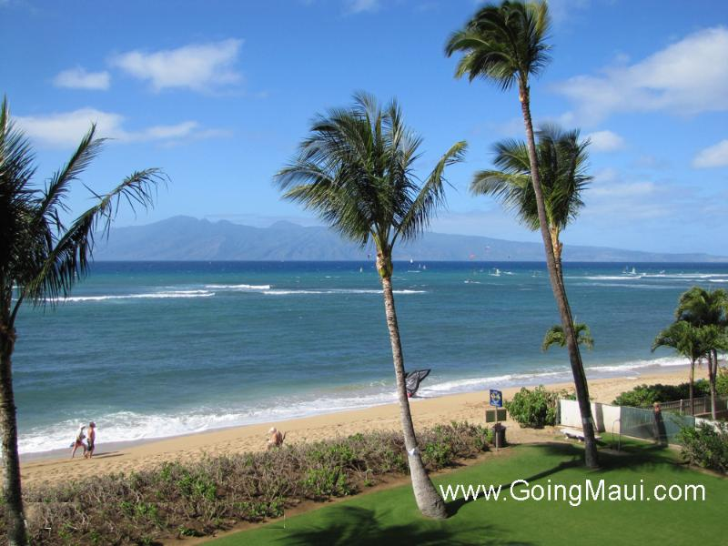View from 307 Lanai - Direct Oceanfront Studio 307 -Valley Isle Resort - Lahaina - rentals