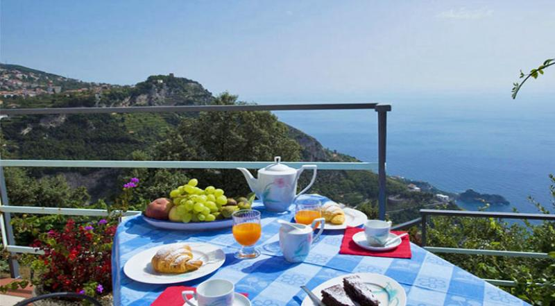 01 Alba private terrace with sea view - ALBA - Furore - Amalfi Coast - Furore - rentals
