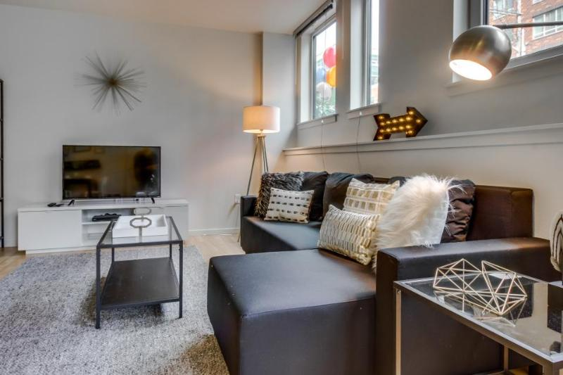 Dog-friendly condo with a shared roof deck, walk to the Space Needle! - Image 1 - Seattle - rentals