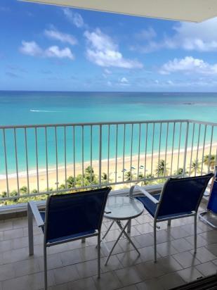 Full view to ocean - Combining comfort and style, Oceanfront Apartment - Isla Verde - rentals