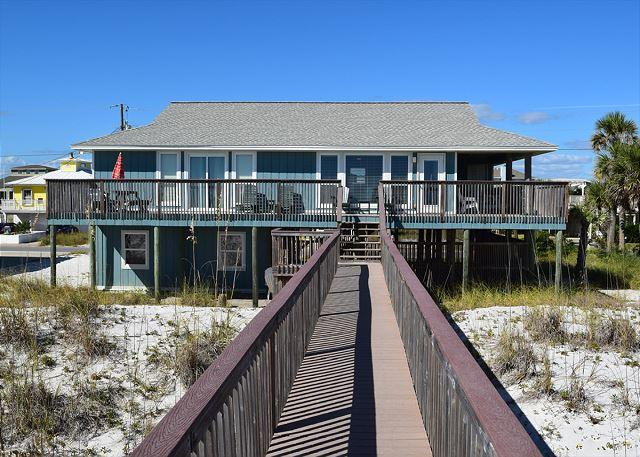 Gulf side of home from private dune walkover. - Ariola 1204 - Pensacola Beach - rentals