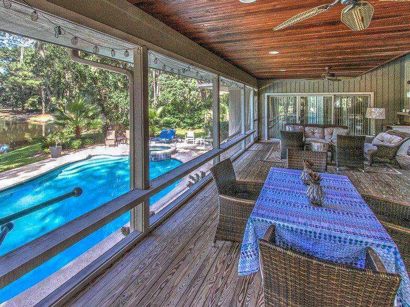 Screen Porch at 66 Heritage Road - 66 Heritage Road - Sea Pines - rentals