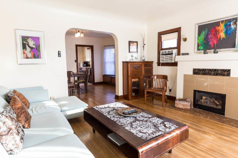 Living Room - Silverlake Bungalow. Private LA home and Garden - Los Angeles - rentals