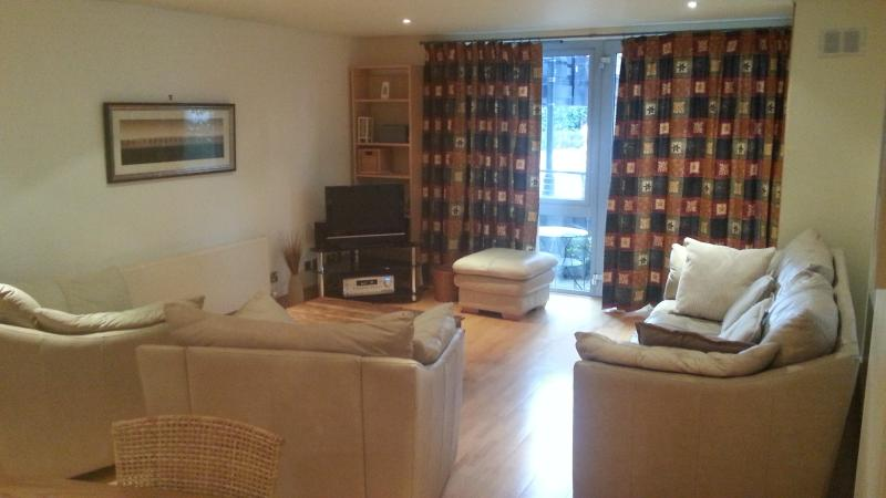 Spacious, comfortable lounge  opens to terrace opposite University buildings - Spacious 2 Double Bed Apartment In Bristol - Bristol - rentals