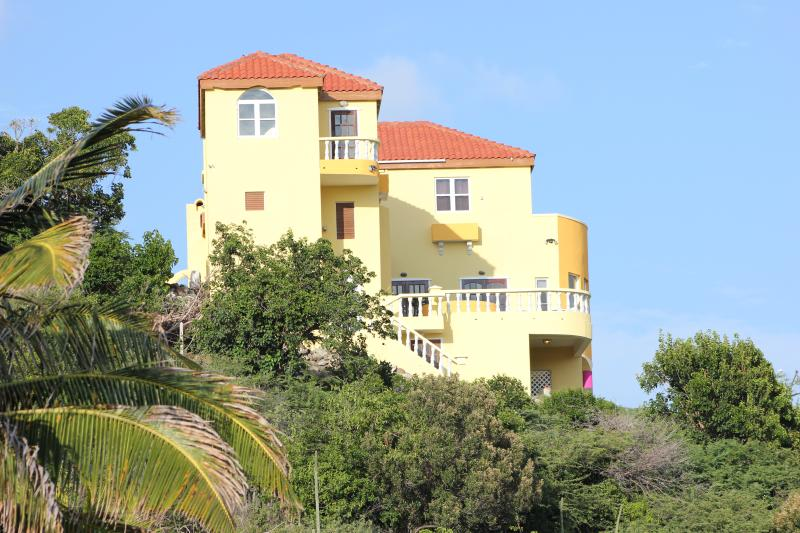 Beautiful mountain-top view of Paradise Villa - Stunning 3.5 Bedroom Villa in Turtle Beach - Turtle Beach - rentals