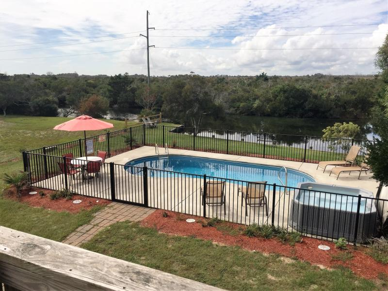 New pool area & hot tub - Private Pool, Hot Tub, Walk to the Beach, Great Location! SNH-31 - Nags Head - rentals