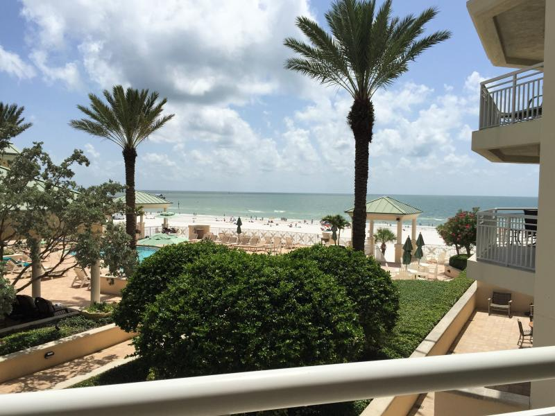Incredible view of the beach and tropical pool area - Mandalay Beach Club 405 - Clearwater - rentals