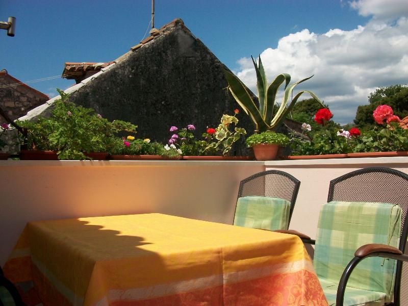 A2 gornji (2+2): terrace - 03807TROG A2 gornji (2+2) - Trogir - Trogir - rentals