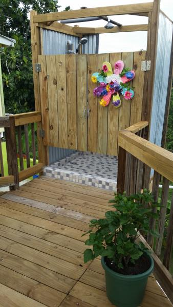 Brand new 2015 Outdoor Shower. - Top Vacation Rental COZY FOR TWO - Rincon - rentals