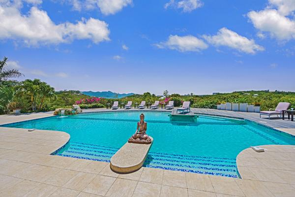 Take in the views of Simpson Bay and the Sea from this villa's enlarged pool and deck. C SLU - Image 1 - Terres Basses - rentals