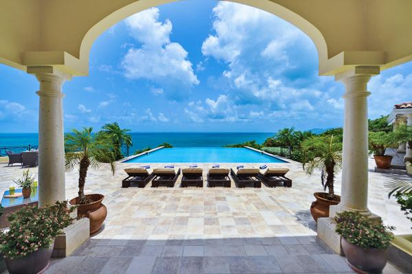 Neoclassical island retreat within Terres Basses- Caribbean Sea views. C BLA - Image 1 - Baie Rouge - rentals