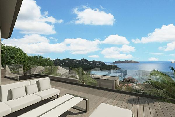 Luxurious villa with magnificent views over the Bay, perfect for couples WV REV - Image 1 - Saint Jean - rentals