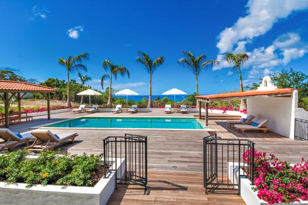 Sea view and professional kitchen in this great family villa. C HAC - Image 1 - Terres Basses - rentals