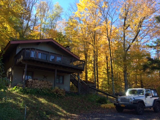 Beautiful fall day - firewood provided - Renovated Chalet -1 mile from mt - lake/mt views - Hunter - rentals