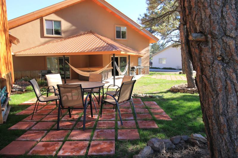 Two patio areas with table and chairs for each of the two units. - $50 Gas Card -Brand New Luxury Rental with Hot Tub - Pagosa Springs - rentals