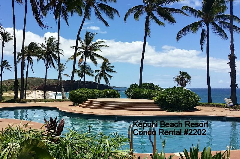 #2202 offers beautiful ocean/sunset views, King Bed in loft, W/D, dishwasher and secure WIFI - #2202 (1 of 5 Beach Front Units) @ Kepuhi Beach - Maunaloa - rentals