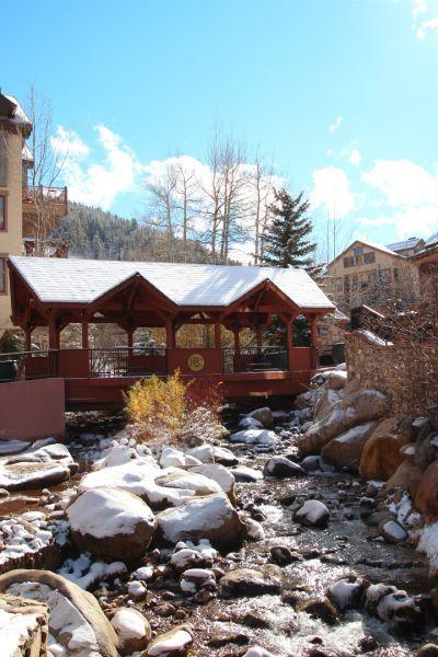Below Your Window Cover Bridge Over Beaver Creek - - 414 Beaver Creek Lodge Luxury Suite - Beaver Creek Village - Beaver Creek - rentals