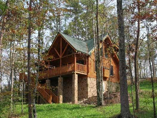 Exterior Back View of Where Bears Play - WHERE BEARS PLAY - Pigeon Forge - rentals