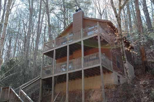 Exterior Front View of Whispering Creek - WHISPERING CREEK - Pigeon Forge - rentals
