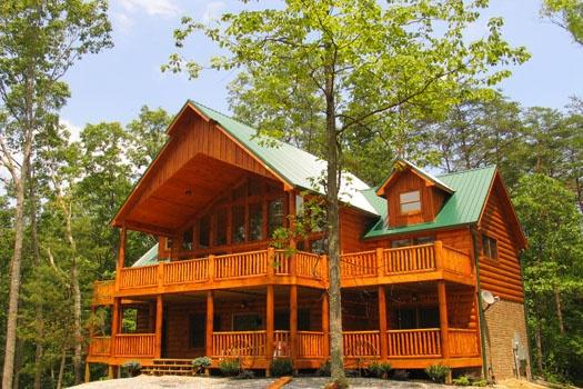 Exterior Front View of True Grit - TRUE GRIT - Pigeon Forge - rentals