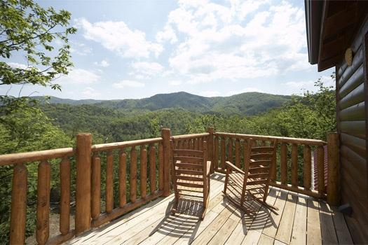 Third Floor Deck View of the Smoky Mountains at Over The Rainbow - OVER THE RAINBOW - Pigeon Forge - rentals