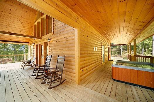 Deck at Almost Heaven - ALMOST HEAVEN - Gatlinburg - rentals