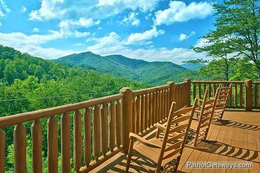 Second Floor Deck with Rockers at Tennessee Dreamer - TENNESSEE DREAMER - Pigeon Forge - rentals