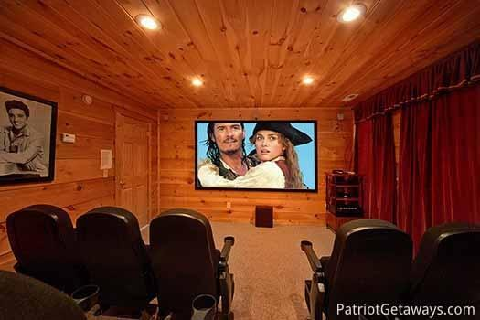 Home Theater Room at Elk Horn Lodge - ELK HORN LODGE - Gatlinburg - rentals