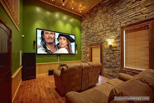 Theater Room Screen at Making Memories Lodge - MAKING MEMORIES LODGE - Gatlinburg - rentals